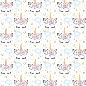 "1"" Unicorn Cloud Stars Moon"
