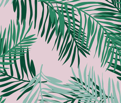 Large Palm fabric by chelseamarblespaper on Spoonflower - custom fabric