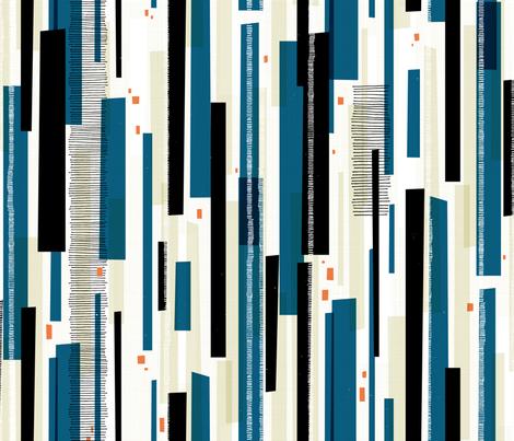 Waterfall M+M Navy Blue by Friztin fabric by friztin on Spoonflower - custom fabric
