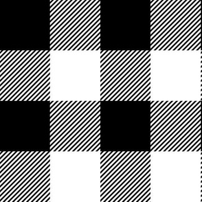 "black buffalo check // 2"" squares"