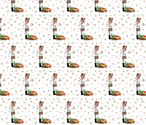 "8"" Holiday Winter Friends fabric by shopcabin on Spoonflower - custom fabric"