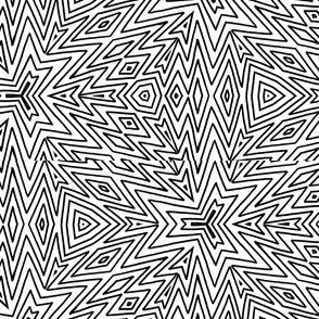 kaleidoscope lines ~ black on white