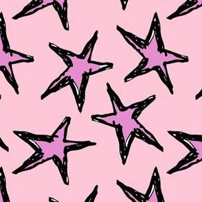 Pink Blush Grunge Stars