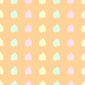 Ice Cream Tops on Wafer Colour Background