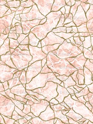 Gold & Pink Marbling Fragmentation
