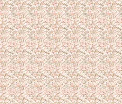 Gold & Pink Marbling Fragmentation fabric by les_ephelides_design on Spoonflower - custom fabric
