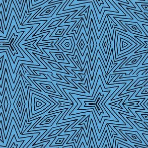 kaleidoscope lines ~ black on blue