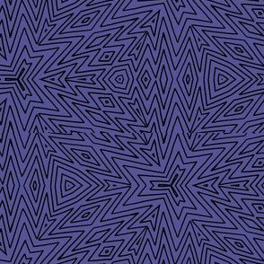 kaleidoscope lines ~ black on purple
