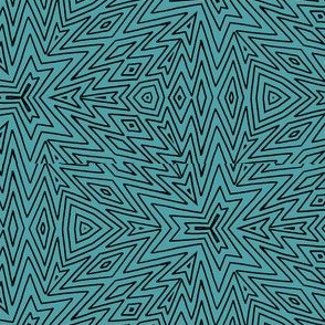 kaleidoscope lines ~ black teal