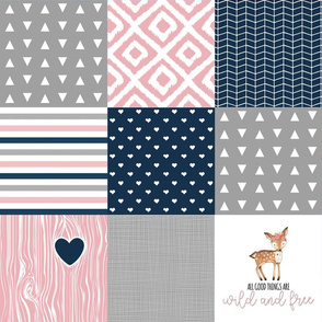 Wild & Free Wholecloth Cheater Quilt