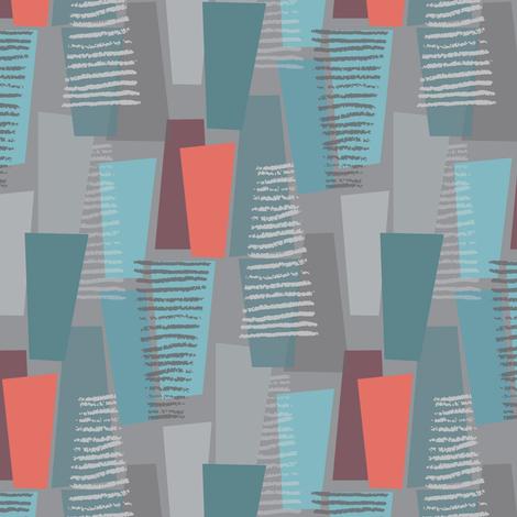 static  in blue fabric by studiojenny on Spoonflower - custom fabric