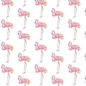 flamingo and peonies