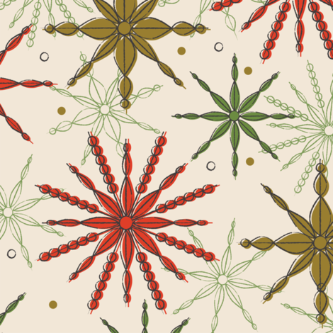 Frosty fragments ~ traditional fabric by retrorudolphs on Spoonflower - custom fabric