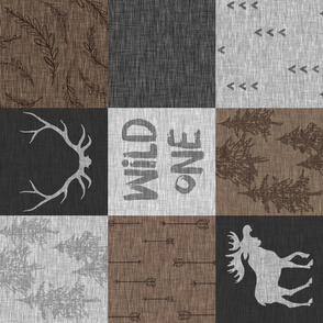 Wild One Quilt - brown and grey