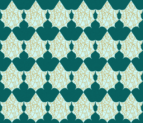 Fractured Gold Leaves fabric by coveredbydesign on Spoonflower - custom fabric