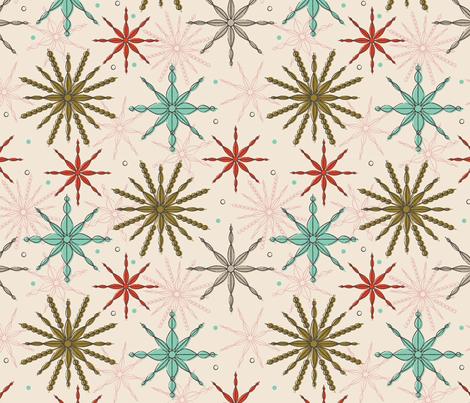 Frosty Fragments ~ retro glam fabric by retrorudolphs on Spoonflower - custom fabric
