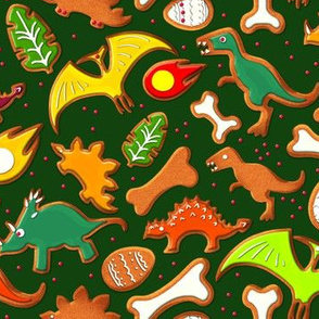 Dinosaur Gingerbread Cookies