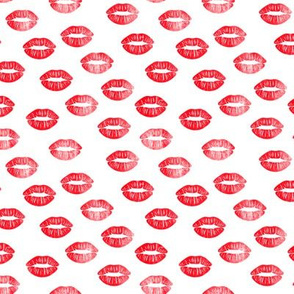 (small scale) smooches - kisses - red