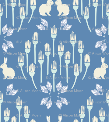 Ox eye + Hare Seeing Double in Blue - Large