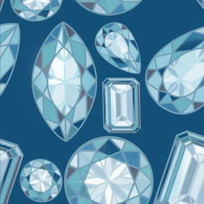 Blue Diamonds on Midnight