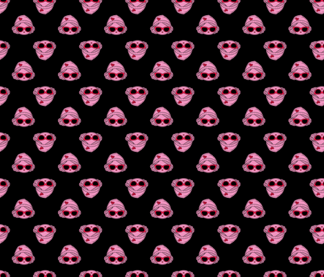Black Pink and Red Hollywood Med fabric by blythecon_los_angeles on Spoonflower - custom fabric