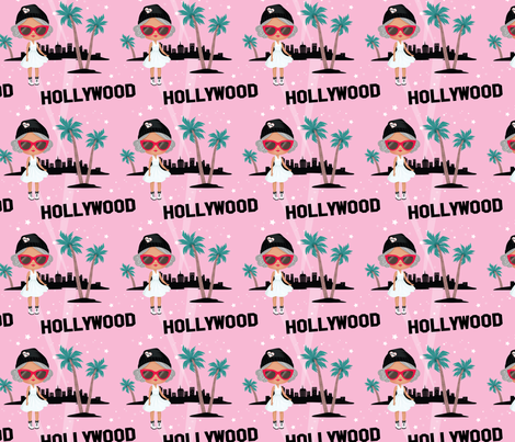Hollywood City Large fabric by blythecon_los_angeles on Spoonflower - custom fabric