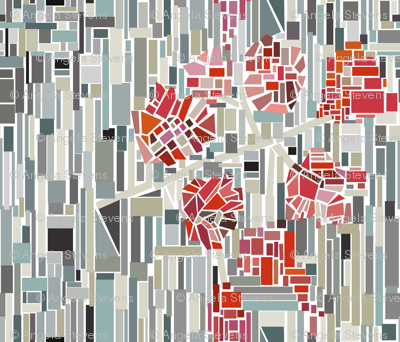 Large Scale Fragmented Floral