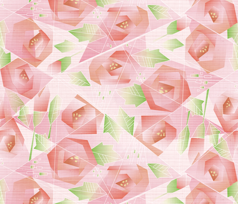Piecing Together My Rosy Dreams fabric by robinpickens on Spoonflower - custom fabric
