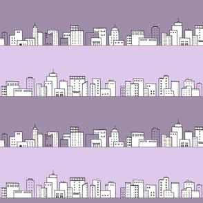 skyline ~ lavender stripe