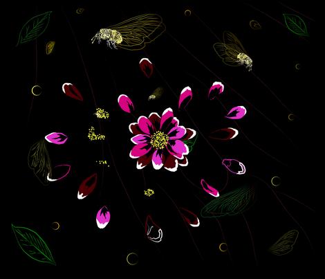 in the night garden fabric by alohajean on Spoonflower - custom fabric