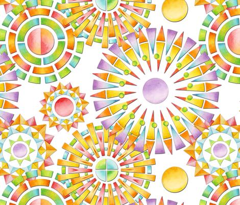 Fragmentation Sunburst fabric by patriciasheadesigns on Spoonflower - custom fabric