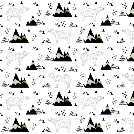 Polar Bears (small) fabric by kimsa on Spoonflower - custom fabric