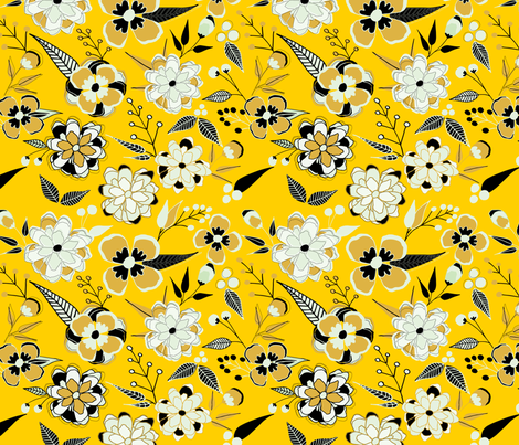 Flower Epidemics Large Scale fabric by quirkysewing on Spoonflower - custom fabric