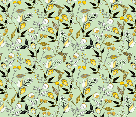 Flower Epidemics 5 fabric by quirkysewing on Spoonflower - custom fabric