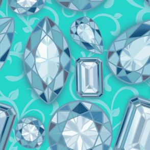 Blue Diamonds Tiffany Large Scale