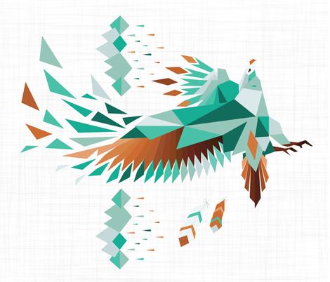 Turkoise Eagle fabric by appaloosa_designs on Spoonflower - custom fabric