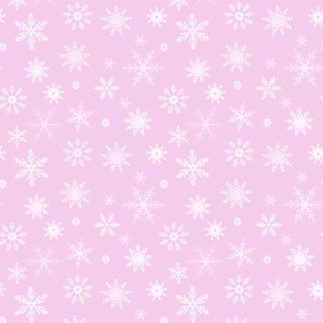 snowflakes on pink fabric by samantha_woodford on Spoonflower - custom fabric