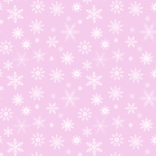 snowflakes on pink