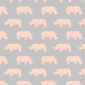 RHINO LIGHT PINK ON GRAY