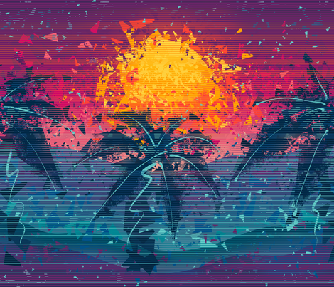 Fragmented Outrun fabric by hollybender on Spoonflower - custom fabric