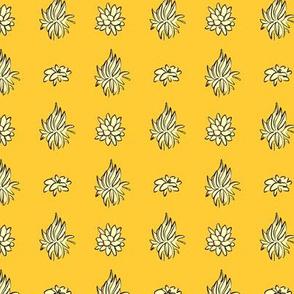 Succulent Polka in Mustard