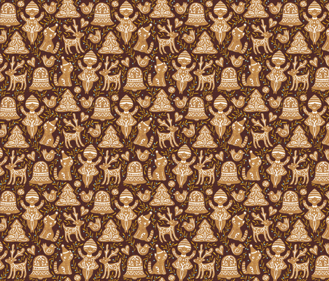 gingerbread fabric by gaiamarfurt on Spoonflower - custom fabric