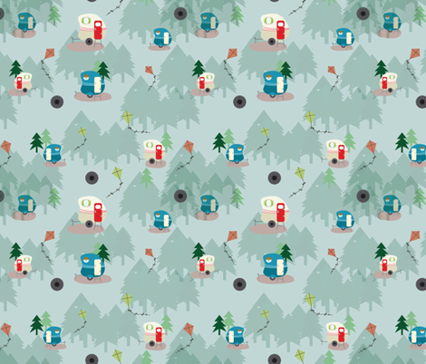 Mountain Fever 5 fabric by quirkysewing on Spoonflower - custom fabric