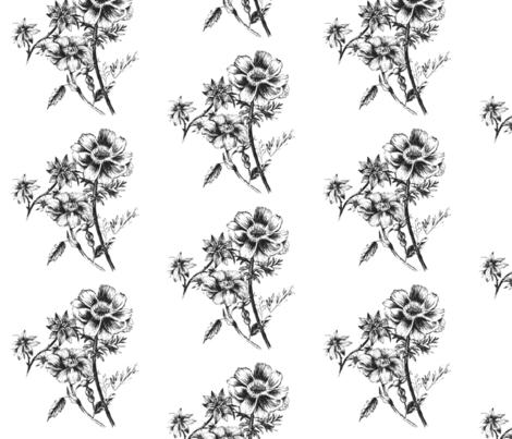 flowers fabric by tayreyn on Spoonflower - custom fabric