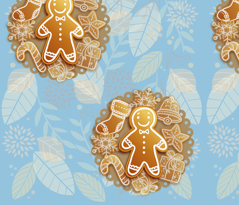 Ginger Cookies fabric by atideas on Spoonflower - custom fabric