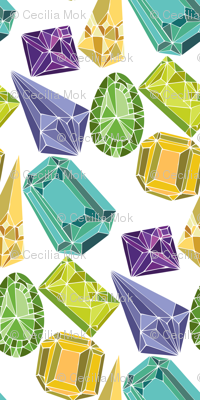 Gemstones - large scale