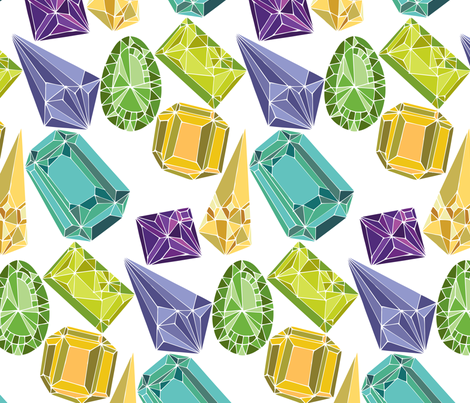 Gemstones - large scale fabric by ceciliamok on Spoonflower - custom fabric
