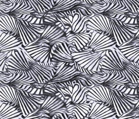 Navy White Fans  fabric by wren_leyland on Spoonflower - custom fabric