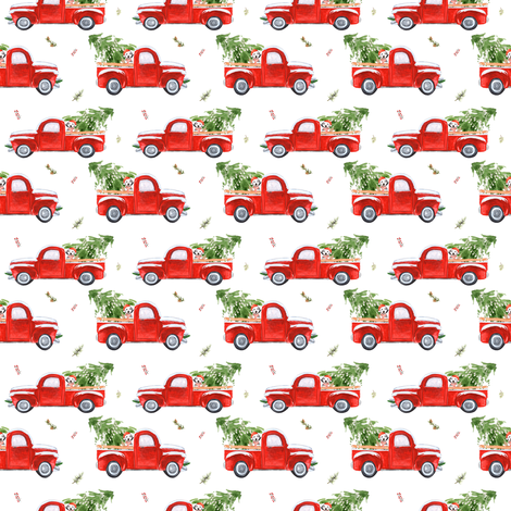 "2"" Best Friend & Christmas Truck fabric by shopcabin on Spoonflower - custom fabric"