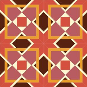 geometric quilt pattern